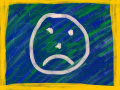 14/05/2014: Angry Face on a Blue Background