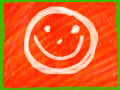 13/05/2015: Smiling Face on a Red Background